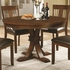 5 PC Abrams Round Table Set with Slat Back Side Chairs