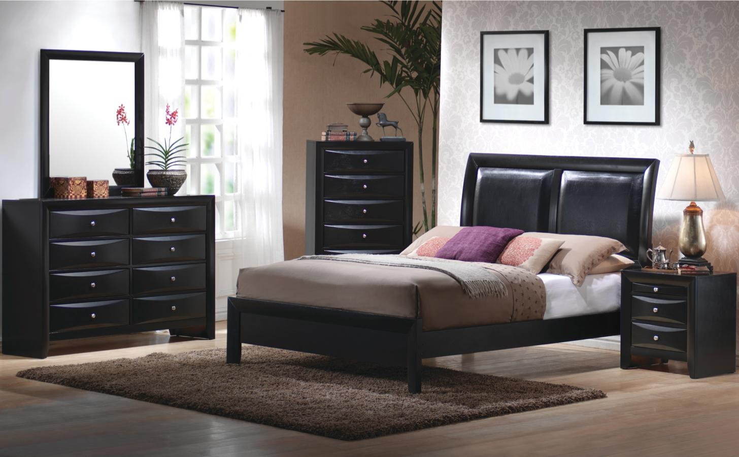 4 PC Briana King Size Bedroom Collection Furniture Stores