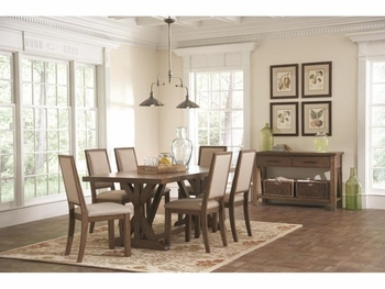 5 PC Bridgeport Rustic Table and Chair Set