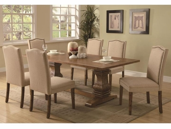 5 PC Classic Parkins Dining Table and Parson Chair Set