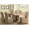 5 PC Classic Parkins Dining Table and Parson Chair with skirt