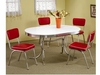 5 PC Cleveland Chrome Plated Dining Set