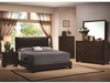 4 PC Conner upholstered Faux leather bedroom set Furniture