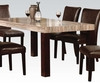 5 PC Fraser Faux Marble Table and 4 Side chairs
