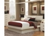 5 PC Jessica Queen Pier Platform Bedroom set with Rail Seating and Lights