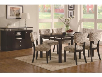 5 PC Libby Floating Top Table & 4 Upholstered Side Chairs Set