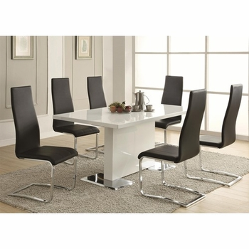 5PC 102310 Dining Table & Upholstered Chairs Set