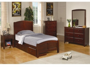 5 PC Parker Casual Storage Twin Panel Bed