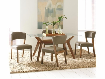 5 PC Paxton Rectangular Dining Table Set with 4 Side Chairs