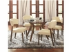 5 PC Paxton Round Dining Table Set with 4 Side Chairs