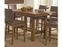 5 PC Salerno Rustic Counter Height Dining Set Table and 4 stools
