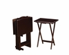 5 Piece 4 Tray Table Set and stand