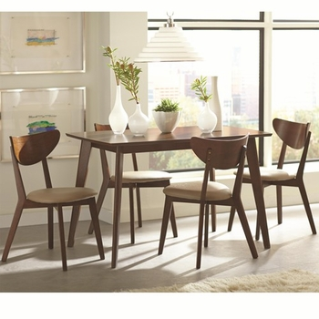 5 Piece Kersey Dining Set with Angled Legs