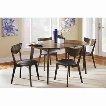 5-Piece Malone Mid-century Modern Solid Wood Dining Set