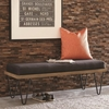 500574 Mid-Century Modern Upholstered Bench with Hairpin Legs