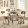 5PC  Adjustable Bar Table Set with Stools