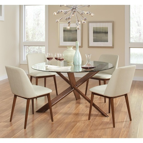 modern glass dining room table 4 chairs contemporary VA furniture