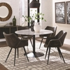 5PC Bartole Eclectic Round Table and Chair Set