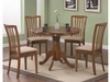 5PC Brannan Round Single Pedestal Dining Table and chair