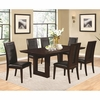 5PC Chester Pedestal Chair and Side Chairs Set