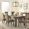 5PC Davenport Rustic Table and Rattan Chair Set