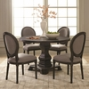 5PC Dayton Traditional Pedestal Table and Chair Set