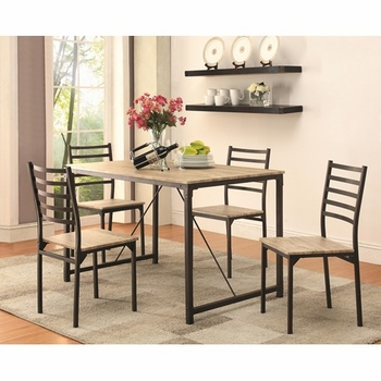 5PC Dinettes Industrial Dining Set