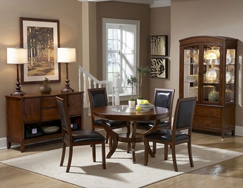 5PC Dining Room Round Avalon Set table & 4 Chairs Furniture