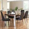 5PC Faccini Table Set with Stainless Steel Legs and Upholstered Side Chairs