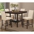 5PC Fattori Counter Height Table Set with Leatherette Bar Stools