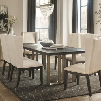 5PC Friedman Modern Dining Table and Chair Set by Donny Osmond Home