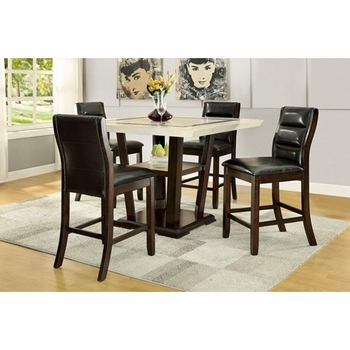 5PC Lacombe Pub Table Set with Counter Height Chairs