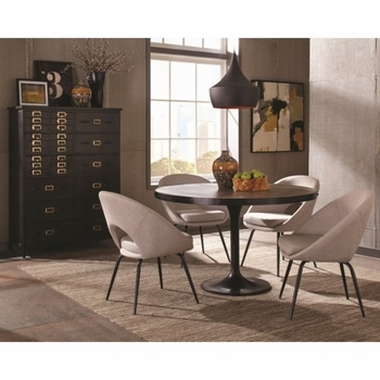 5PC Mayberry Round Table and Chair Set by Donny Osmond Home
