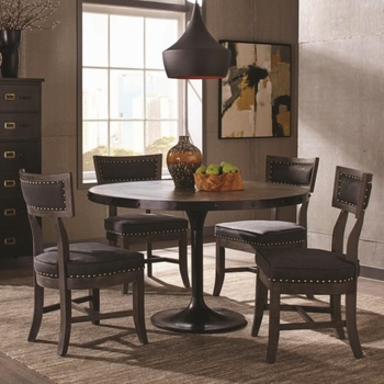 5PC Mayberry Rustic Table and Chair Set