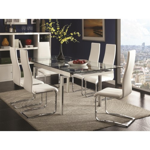 Modern Dining Table Sets On Sale: Contemporary 5PC Dining Room Set Side Chairs 106281