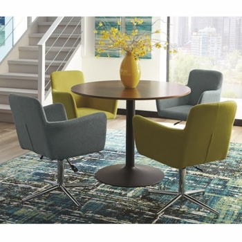 5PC Montoya Modern Round Dining Table Set by Scott Living