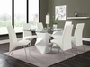 5PC Ophelia Contemporary Dining Set with Rectangular Glass Top Table