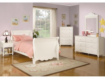 5PC Pepper Twin Sleigh Bedroom set