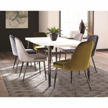 5PC Riverbank Contemporary Dining Room Table Set