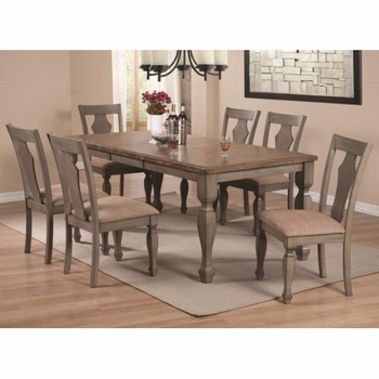 5PC Riverbend Two-Tone Table Set