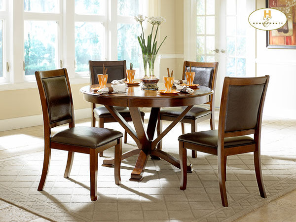 contemporary cherry 5pc set dining room furniture stores