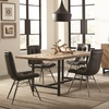 5PC Thompson Rustic Dining Table with Chevron Inlay Pattern Set