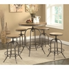 5PC Transitional Adjustable Bar table and Stool Set