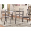 5PC Transitional Glass Bar Height Table and Chair Set