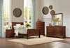 4 PC Twin size Mayville Collection Bed, Nightstand, Dresser, Mirror and Chest