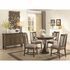 5PC Willowbrook Casual Rustic Dining Set with Round Bluestone Table and Solid Wood Chairs