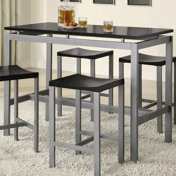 5PCS Atlus Metal counter height table Table, 4 Stools