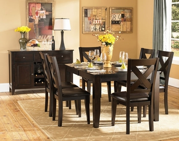 5PCS Modern Crown Point Collection Dining Room Set Collection