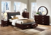 4 PC Bedroom Set Lyric Queen bed, Nightstand, Dresser, Mirror