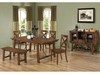 6 PC Dining Set Table, 4 Chair and Bench Furniture Stores